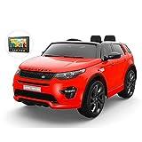 Expertshop Auto ELETTRICA per Bambini Land Rover Discovery Colore Rosso 12 V 2 POSTI con TV Touch Screen