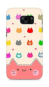 Amez designer printed 3d premium high quality back case cover for Samsung Galaxy S7 (Cats Cartoon)