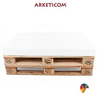 Arketicom PALLET SEAT CUSHION Furniture customizable Polyurethane Foam Italian Handmade 80x60x10 cm White
