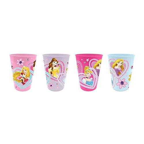 Disney Princess Trinkbecher Saftbecher Becher 4er Set