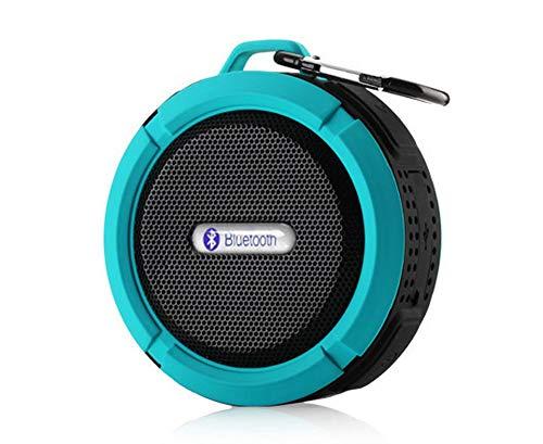 MIJIN Drahtlose Bluetooth 4.0 Stereo Portable Speaker eingebaute mic Schock-Resistance IPX6 Waterproof Speaker mit Bass,Blue (Surround-sound-system 1000w)