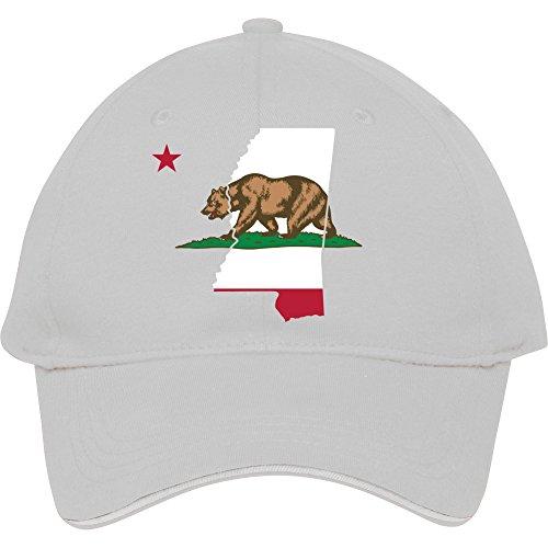 Mississippi California Funny Pride Flagge Apparel Baumwolle genesim Billig Snapback Kappen verstellbar hatmale/weiblich Classic Baseball Mützen, Weiß