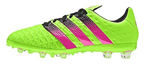 adidas Ace 16.1 Fg/Ag, Scarpe da Calcio Unisex – Bambini, Multicolore Verde (Solar Green/Shock Pink/Core Black)