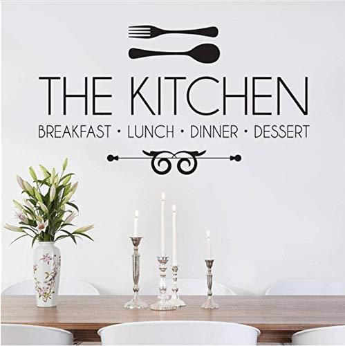 Lvabc 50X90 Cm Die Küche Frühstück Mittagessen Abendessen Aufkleber Wandaufkleber Zitat Kunst Wandaufkleber Wandbild Moderne Dekoration