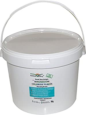 Magnesium Chloride Flakes 5kg tub from Dead Sea Origin