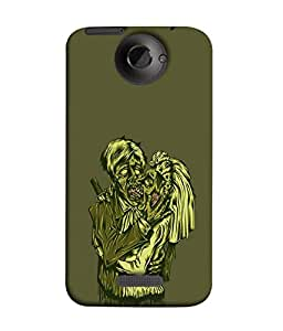 FUSON Designer Back Case Cover for HTC One X :: HTC One X+ :: HTC One X Plus :: HTC One XT (Soul Hearts Lovers Romantic Hugs Kiss Mad Love Arts)