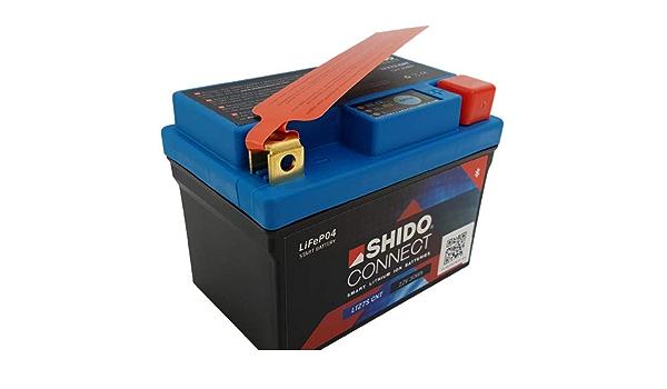 Batterie Shido Connect Lithium Ltz7s Ytz7s 12v 6ah Maße 113x70x105 Auto