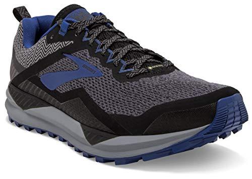 Brooks Cascadia 14 GTX, Scarpe da Running Uomo, Nero (Black/Grey/Blue 053), 44 EU