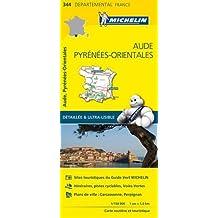 Carte Aude, Pyrénées-Orientales Michelin