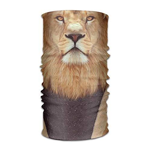 Mr. Lion Headwear For Men And Women-Yoga Sports Travel Workout Wide Headbands,Neck Gaiter,Bandana,Helmet Liner,Balaclava,Hair Turban,Scarf