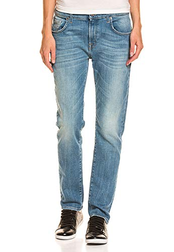 7 For All Mankind Damen Baumwoll-Jeans bequemen Stretch-Anteil