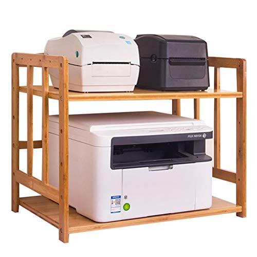 Zhanghongshop Boden Drucker Regal Schreibtisch Drucker Ständer Multi-Layer-Lagerregal Organizer Faxgerät Bambus Mikrowelle Ofen Rack (Color : Wood Color, Size : 80 * 38 * 83CM) (über Ofen-mikrowelle-regal)