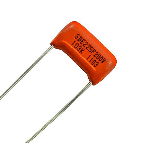 Sprague Orange Drop Kondensator für Fender Stratocaster / Telecaster, Gibson Les Paul und andere Modelle (0,01°µF) Orangefarben