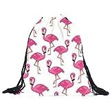 TIFIY 3D Unisex Damen Herren Besondere Muster Kordelzug Rucksack (Flamingo)