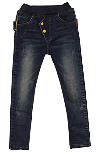 Waboats Kind Jungen 3-7 Jahre Jeanshosen Splice Pocket Frühling Herbst Jeans 4T -