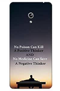 AMAN Positive Thinker 3D Back Cover for Asus Zenfone 6