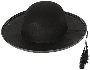 Black Felt Priests Hat Priest Vicar Vicars Cap Fancy Dress (gorro/ sombrero)