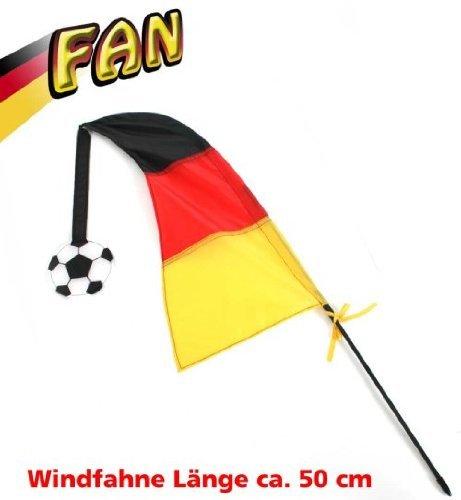 Windfahne Wind Fahne Deutschland Fan Deutschland FAN - Artikel ca.50 cm