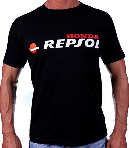 HONDA REPSOL LOGO T-SHIRT SHIRT SHWARZ EMBLEM AUTO MOTOR S M L XL 2XL 3XL 4XL Alle (L) (Auto-logo-t-shirt)