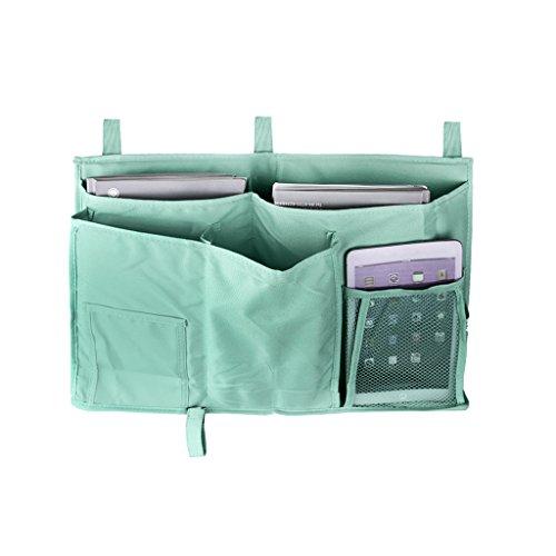 Comodino da cucina, la camera da letto e materasso Dorm a TV, iPad, iPhone, porta riviste Organizer portaoggetti per divano letto, con tasche porta borsa con tasche Organiser per letti a soppalco 8 Po 8 Pockets-Grey