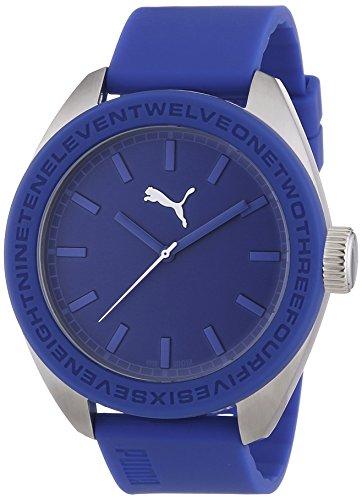 Puma Time PU103731004 - Reloj de cuarzo para hombre, correa de resina color azul