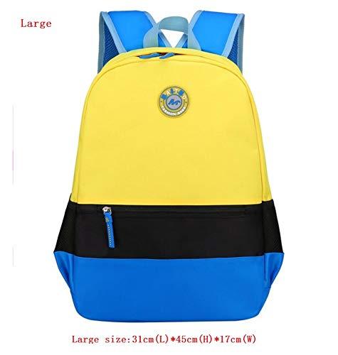 Khdjh zaino per bambini scuola di alta qualità stranti zaini studente waterpfoof nylon scuola borsa per bambini per ragazzi scuola ragazze bambini zaini w giallo grande