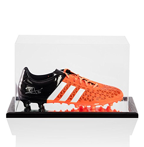 Dele-Alli-Signed-Autograph-Football-Boot-Adidas-Ace-153-Orange-Black-In-Acrylic-Display-Case
