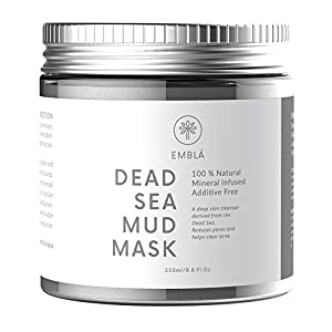 Maschera di fango del mare morto per il trattamento del viso - Maschera viso lavata Premium - 100% naturale e organica pulizia profonda della pelle, pulisce l'acne, riduce i pori e le rughe - Maschere naturali - Maschera viso detergente - Dead Sea Products