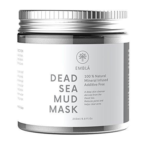 Belleza Mascarilla de barro del Mar Muerto para el tratamiento facial - Premium Wash Off Mascarilla - 100% natural y orgánica de la piel profunda limpiador, aclara el acné, reduce los poros y arrugas - máscaras naturales - mascarilla limpiadora - Dead Sea Products