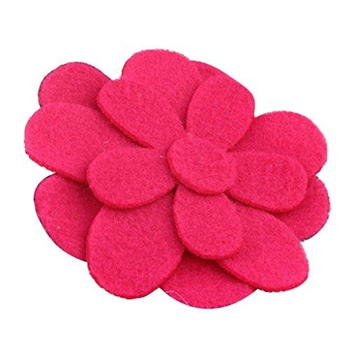 2pcs Bande de Cheveux Autocollant Magique Bangs Cheveux en Forme de Fleur pour Filles - Rouge