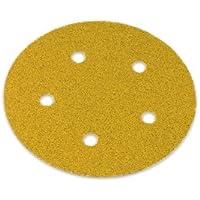 Discos de papel de lija Norton 125 mm (12,7 cm) 5 agujeros autoadhesiva P320, 100 discos