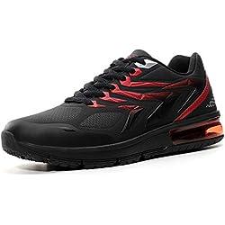 AX BOXING Zapatillas Hombres Deporte Running Sneakers Zapatos para Correr Gimnasio Deportivas Padel Transpirables Casual (44 EU, A9152-Negro)