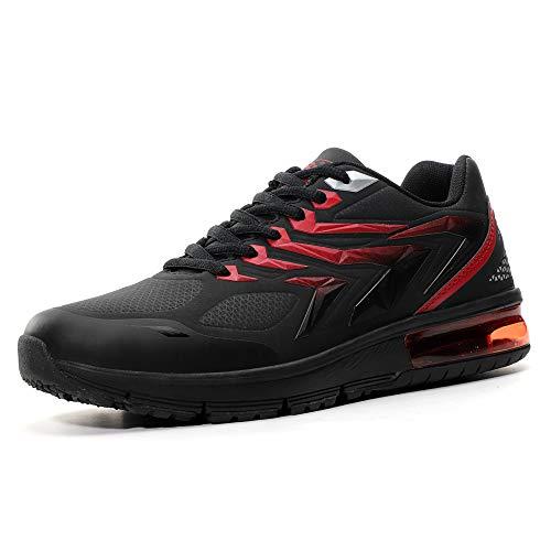 AX BOXING Herren Sportschuhe Laufschuhe Sneaker Atmungsaktiv Leichte Wanderschuhe Trainers Schuhe (46 EU, A9152-Schwarz)