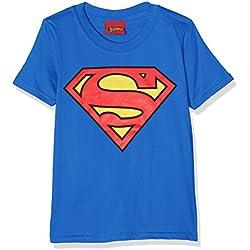 DC Comics Superman Logo, Camiseta Para Niños, Azul (Royal Blue), 3-4 Años (Talla del Fabricante: 3-4 Years)