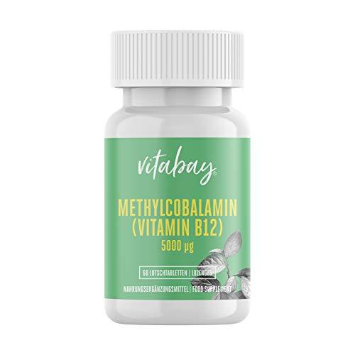Methylcobalamin - 5000 mcg - Vitamin B12 - vegane Lutschtabletten (60 vegane Lutschtabletten)