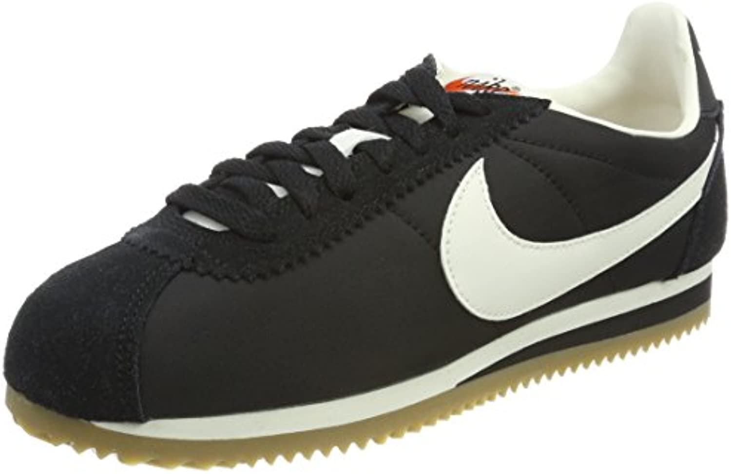 Nike Herren Classic Cortez Nylon Premium Sneaker  Black/Sail Gum Light Brown