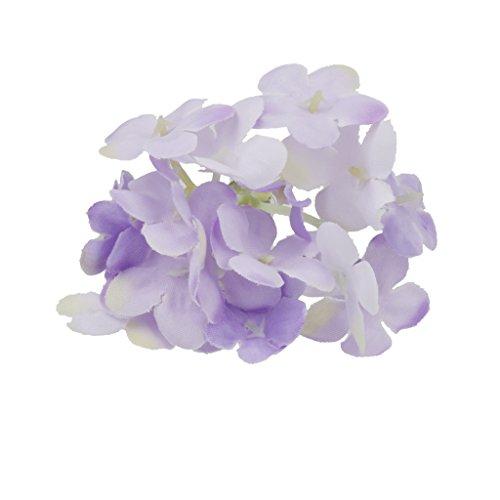 Blesiya Blüten Haarnadeln Kopfschmuck für Hochzeit Set/2pcs - Lila