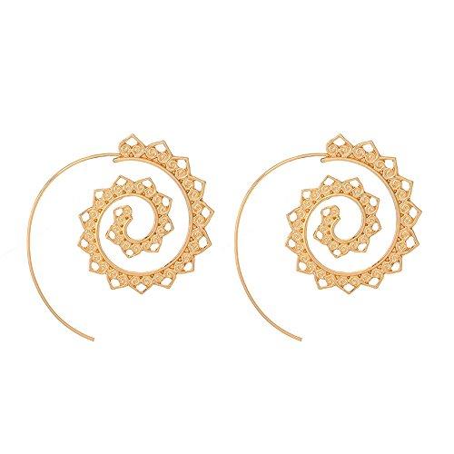 c20d96d8d991 Beisoug Fashion Vintage Spirale Cuore Lega Pendente Ciondolo orecchino  Orecchini Unici per Le Donne