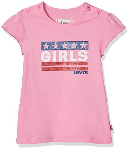 Levi's Kids Baby-Mädchen Nn10544 33 Short Sleeve Tee T-Shirt, Salmon Pink, 12-18 Monate (Herstellergröße: 18M) -