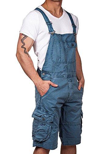 Jet Lag Herren Latzhose Overall Shorts blue denim XL