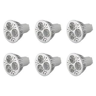 Auralum® High Power Energy Saving Warm White Led Spot Light Spotlights Lamp Bulb (Pack of 6, 6W, GU10, 360LM, 3000K)