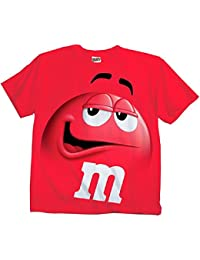 M&M Candy rot Silly Character Face Erwachsene T-Shirt