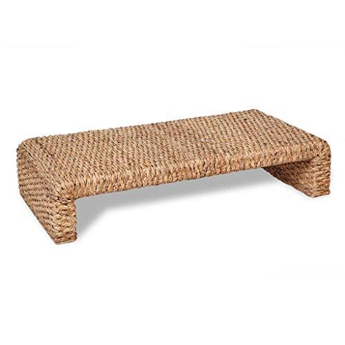 binzhoueushopping Table Basse tissée à la Main Haute qualité Dimensions 120 x 60 x 27 cm (L x l x H) Jacinthe d'eau Table Basse Design