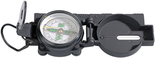 Semptec Urban Survival Technology Compass: Robuster Kompass mit Metallgehäuse (Marschkompass)