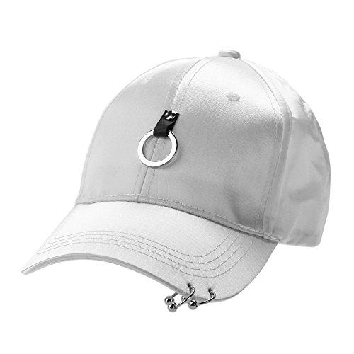 Unisex Snapback Adjustable Baseball Cap Hip Hop Hat Cool Bboy (White) - Bboy-baseball-cap