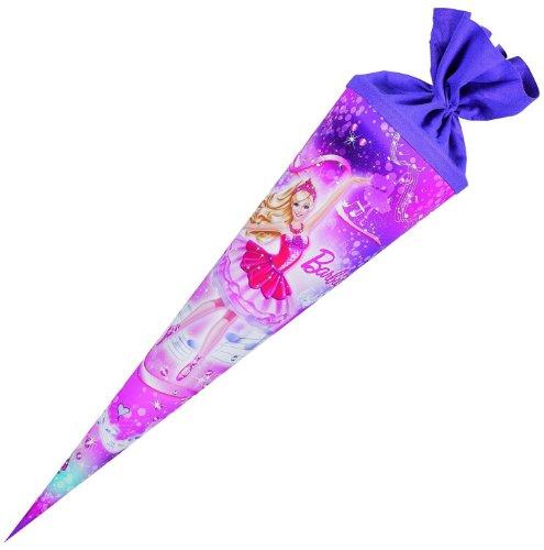 Preisvergleich Produktbild Nestler 5705272 - Schultüte Barbie Prima Ballerina, 70 cm, rund, Filzverschluss
