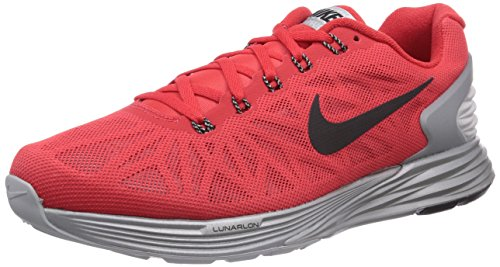 promo code 59b15 34f90 Nike Lunarglide 6 Flash Men S Running Shoes Action Red Black Reflect Silver  8 D M Us