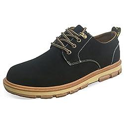 AgeeMi Shoes Zapatos para hombre Cordones Derby Exterior Retro Planos Zapatos,EuN17 Negro 41.5