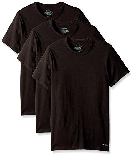 Calvin klein da uomo 3-confezione da cotone a maniche corte crew neck t-shirt