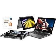 """2018 New Dell 13.3"""" FHD Touchscreen 2-in-1 Laptop, 12GB DDR4, 256GB SSD, AMD Ryzen 7 2700U Up To 3.8GHz, AMD Radeon RX Vega 10, Webcam, Backlit Keyboard, HDMI, Windows 10, Microsoft Office 365 1 Year"""